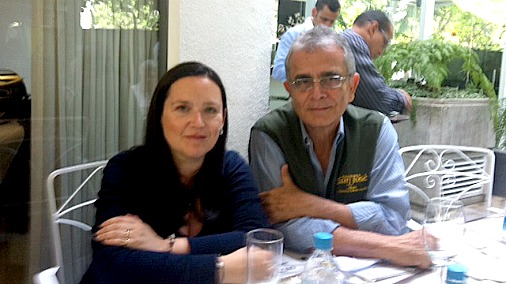 Monica with Vicente Franceschi
