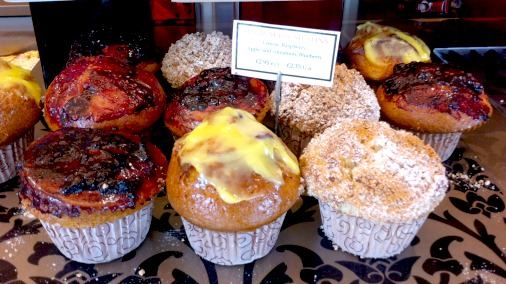 International treats and influence are also to be found. The muffins are spectacular.