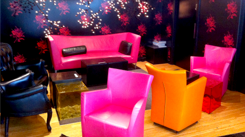 The louche and colourful interior is a treat.