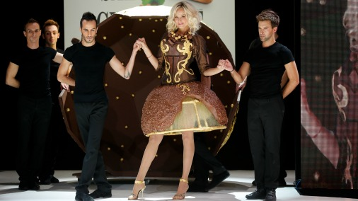 The chocolate fashion show is one of the highlights of Salon du Chocolat