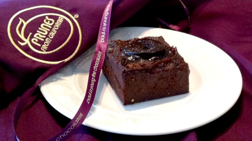 Dark chocolate and prunes, a classic combination from Paul A Young.