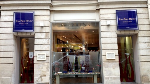 The boutique front on the Rue St Honore.