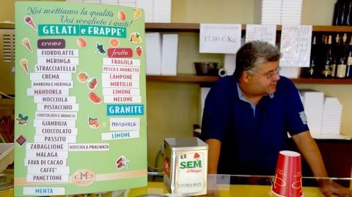 Marco Vacchieri and his gelato.