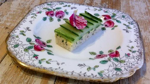 The best little cucumber sandwich I can imagine.