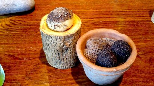 Ragstone, malt and tarragon, with the mushroom dumpling behind.