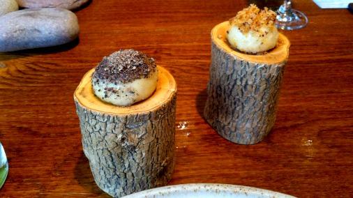 Mushroom  and oxtail dumplings.