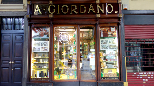 The exterior of the historic central Turin store.