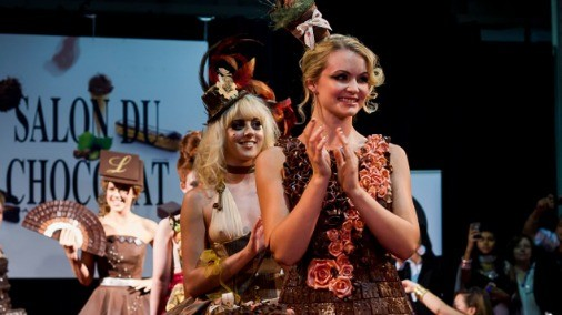 Salon du Chocolat chocolate fashion show.