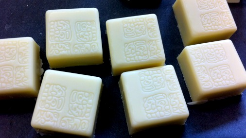 White Chocolate, Black Sesame & Miso, one of the first of Patricia's chocolates I tried.