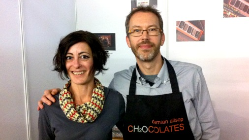 Damian & Anna, from Damian Allsop Chocolates.