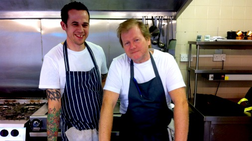Graham Garrett and Ben Crittenden, putting the finest chocolate on The West House menu.