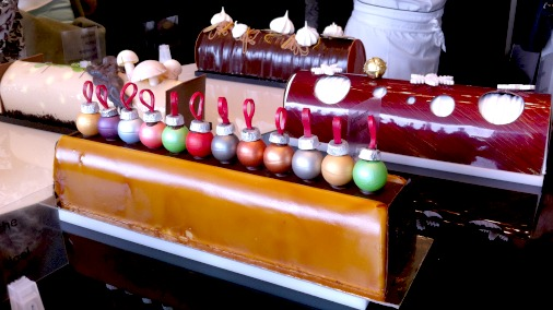 A glimpse of the 12 Buches of Christmas, from Valrhona.