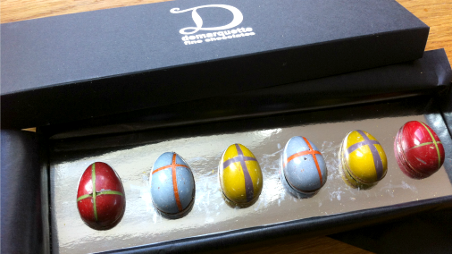 Stylishly delicious hot x eggs from Marc Demarquette.