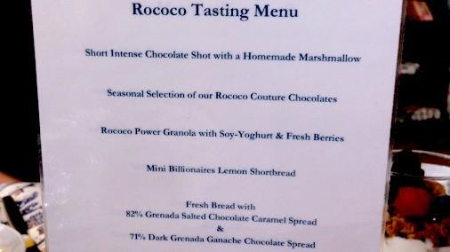 Rococo Tasting Menu