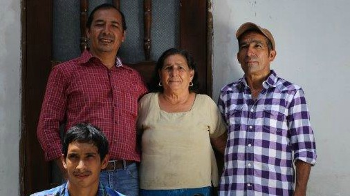 Farmer family in Copan Highlands Honduras.