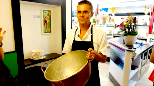 Igor with his essential copper pot.