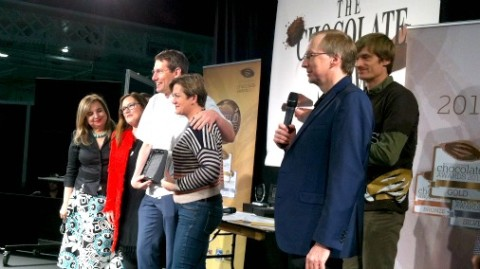 Chantal Coady, founder of Rococo chocolates and her Principle Chocolatier Barry Johnson collect one of many awards!