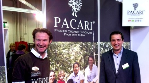 Santiago Peralta of Pacari, Ecuador, and his UK distributor Juan Andres Santelices.