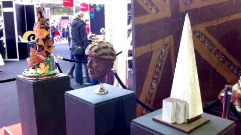 Chocolate sculptures at The Chocolate Show.
