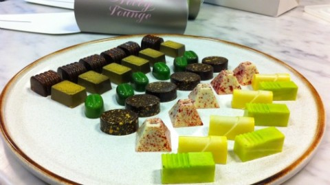 A selection of Sarah's filled chocolates - which will be on sale this Christmas.