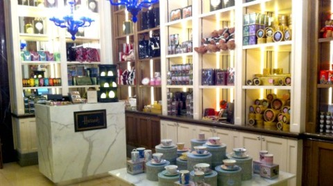 The gift shop inside the hotel that will have the chocolates and other goodies.