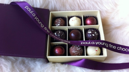 Paul A Young Christmas chocolates.