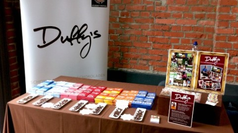 Representing the UK with superb chocolate, Duffy's!