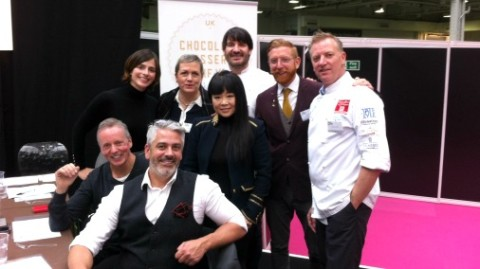 Judges from The Chocolate Dessert of the Year Competition at The Chocolate Show