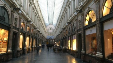 The Galerie de la Reine, breakfast venue on the right.