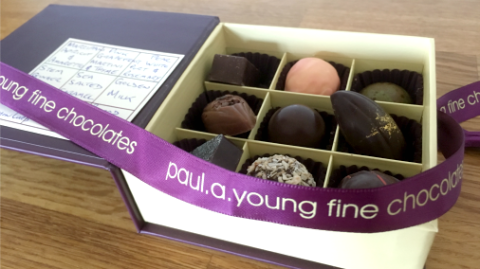 A seasonal box of yumminess from Paul A Young.