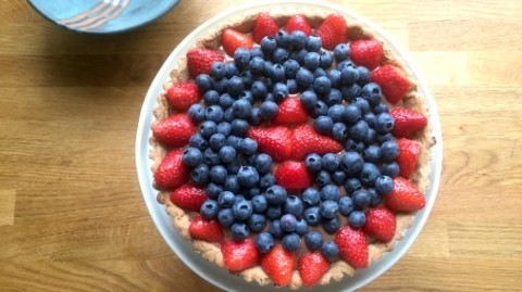 My rendition of Mark's Triple Chocolate and Berry Tart