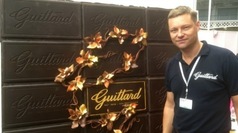 The very lovely Eric from Guittard, with their stunning display at The Chocolate Show