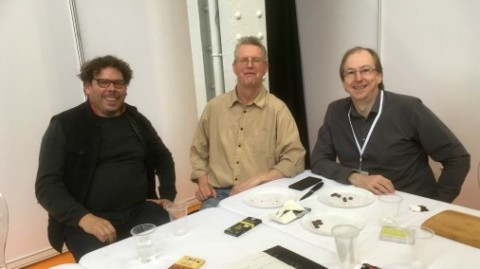 Laurant Gerbaud, Duffy Sheardown and Martin Christy at The Chocolate Show