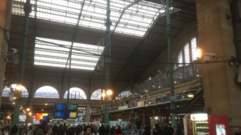 Gare du Nord Paris, the start of the adventure.